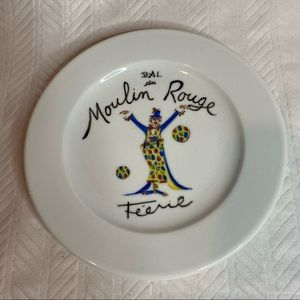 """Moulin Rouge Feerie Collectible Plate, 6"""" diameter"""